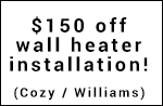 wall heater install coupons