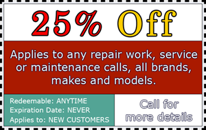 25% off heating and air conditioning repair