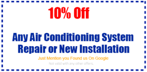 coupon air conditioning repair installation
