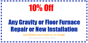 coupon gravity floor furnace repair